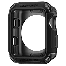 Spigen Tough Armor [2nd Generation] compatible with Apple Watch Case for 42mm Series 3/Series 2/Series 1 - Matte Black