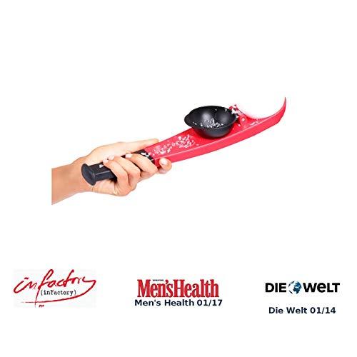 infactory Schneeballschleuder: Wurfstarke Einhand-Wasserbomben- & Schneeball-Schleuder (Schneeballzange)