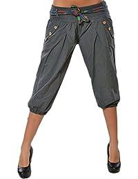 Femmes Pantalon Capri Sarouel Court Pantalon De Yoga Lanternes Jambes  Larges Pantalons a637ef30b49