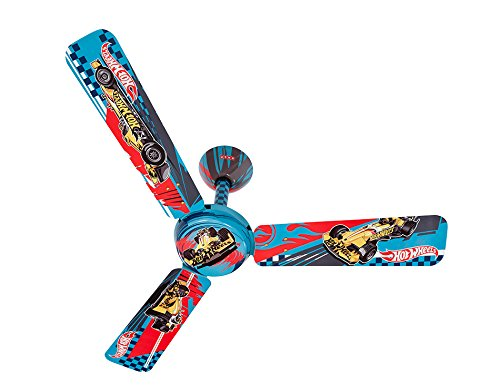 Usha Hot Wheels F-Racer 1200mm Kids Ceiling Fan without Regulator (Blue)