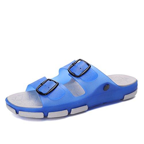 Hishoes Sandálias De Praia Mulheres Homens Banho De Chuveiro Mulas Chinelos De Verão Chinelos Planas Azul Do Aqua 1