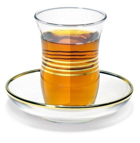 Türkisches Teeglas mit Untertasse 0,1l