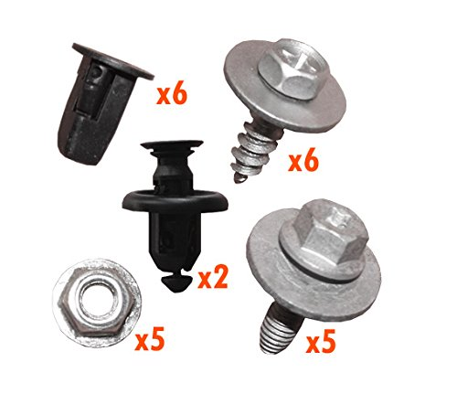 myshopx C105 Set Métal Fixation unterfahr Protection unterboden Protection du moteur Clips pince Vis fixation Kit de montage pression rivets schlagniete Rivet en plastique Clips unterfahr Protection Clips de fixation pinces clips de fixation