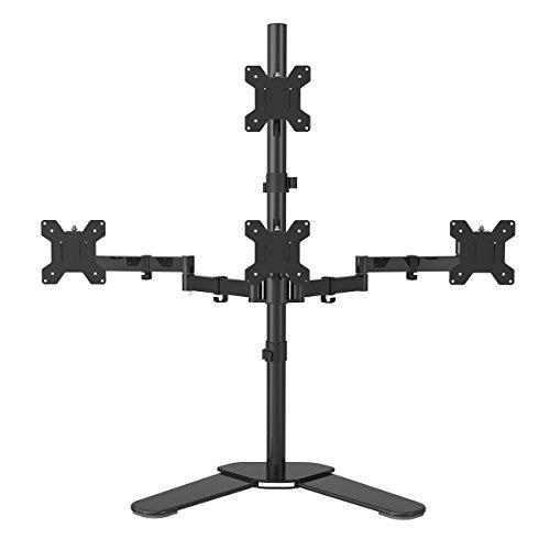 Standfuß Computer-monitore Mit (Suptek Monitorhalter Tischhalterung Standfuß mit 2 Armen für 4 Monitore 10