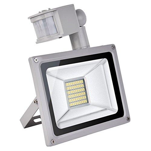 CSHITO IP65 30W / 50W / 100W /150W / 200W / 300W LED Projecteur Lumière avec détecteur de mouvement - [Classe énergétique A++] - Blanc froid (6000K) - 4F