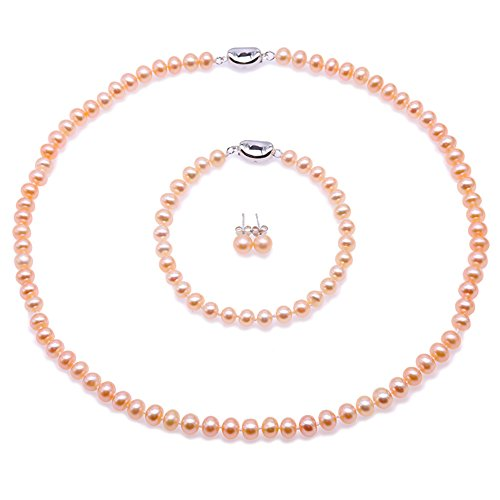 - Perle Halskette Set