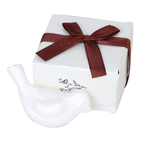 Sonline Love-Bird-Shape Scented Soap for Wedding Party Favors Gift Bag Fillers---White
