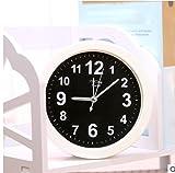 pengweiMinimalista piccolo orologio fabbrica creativa allievo diretto ripiano in cristallo regalo orologio fumetto sveglia , 2