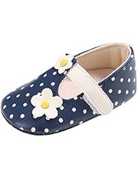 EOZY Chaussures Bébé 3-12 Mois Chaussons Cuir Enfant Dot Fleur Princesse Printemps Pour Fille