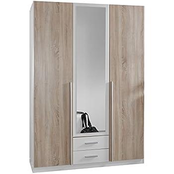 wimex 119484 kleiderschrank 3 t rig mit zwei schubk sten. Black Bedroom Furniture Sets. Home Design Ideas