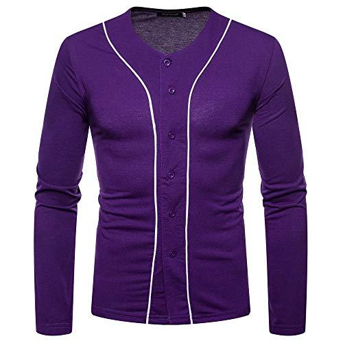 Paolian T-Shirt à Manches Longues à Manches Longues, Mode Automne et Hiver pour Hommes