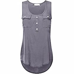 DAYSEVENTH Women's Casual T-Shirt O-Neck Sleeveless Vest Sexy Loose Tank Tops Plus Size