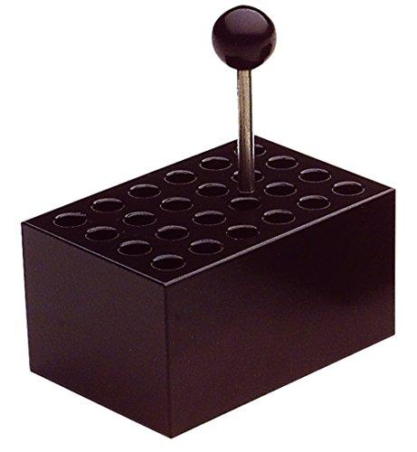 neoLab 2-2505 Heizblock Alu, 24 Vertiefungen 8 mm Durchmesser für Reaktiongefäße, 0,5 mL