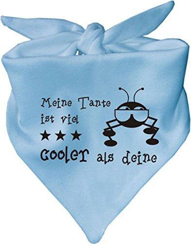Baby Halstuch Meine Tante ist viel cooler als deine / AUNTI / Fb. Hellblau