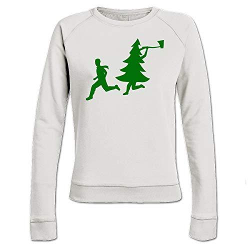 Shirtcity Christmas Tree Attacks Man with Ax Frauen Sweatshirt by
