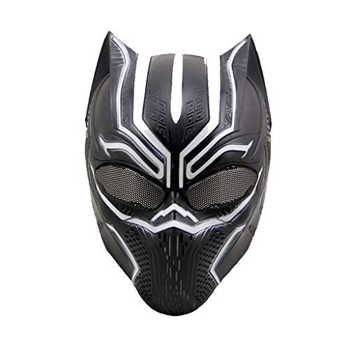 rica: Bürgerkrieg, Black Panther Masken, Marvel Avengers Maske - Perfekt für Karneval Halloween - Erwachsenen Kostüm - Technischer Kunststoff, Unisex,Black panther-0cm~63cm ()