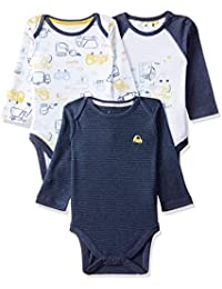 Mothercare Baby Boys' Regular Fit Bodysuit (Pack of 3)