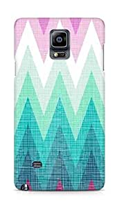 Amez designer printed 3d premium high quality back case cover for Samsung Galaxy Note 4 (Pattern blue and pink)