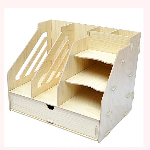 Neue Stil Multifunktions Schublade Aufbewahrungsbox Dokument Regal Größe 325 * 236 * 260mm Holz Aktenschrank, Empfang Speicherschrank, Kategorie Rack. (Farbe : C)