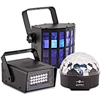 Cluster Party Lights Pack - Strobe Derby and Crystal Ball