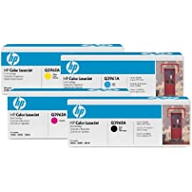 Hewlett Packard HP Original 122A Toner 4er Set negro, cyan, magenta, amarillo (Q3960A, Q3961A, Q3962A, Q3963A)