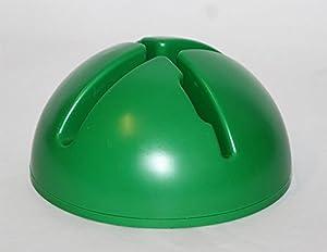 agility sport pour chiens - socle remplissable pour jalons et cerceaux, couleur : vert