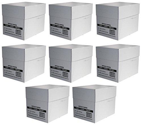 20.000 Blatt Profi Business economy Pack 8 Karton mit je 2.500 Seiten Blatt Pages Kopier- & Druckerpapier weiß A4 80g/m² für Laser- & Tintenstrahldrucker, Kopier und Fax, weiß (8, weiß)