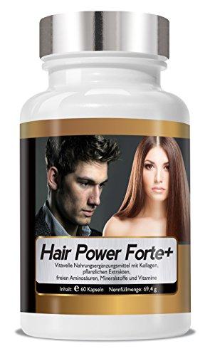 Hair Power Forte+ hochkonzentrierte Haar-Vitamine und Haar Nährstoffe 1 - Monats Packung Made in Germany -