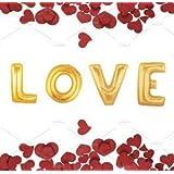 """Riesige Gold Buchstaben """"Liebe"""" Valentinstag Ballons"""