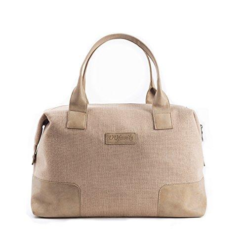 Borsa piccola lino/womens borse/borsa bagaglio a breve viaggio/grande capacità leggero pieghevole borsa da viaggio-A A