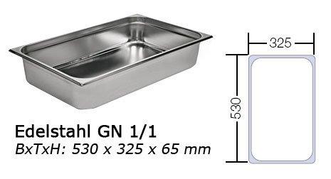GN 1/1 Behälter 65mm Gastronormbehälter Chafing Warmhaltebehälter (GN 1/1 65mm)