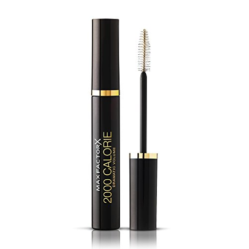 Max Factor 2000 Calorie Volumising Mascara, Smudge-proof with Fast Drying Formula Ideal for Sensitive Eyes, Black, 9 ml