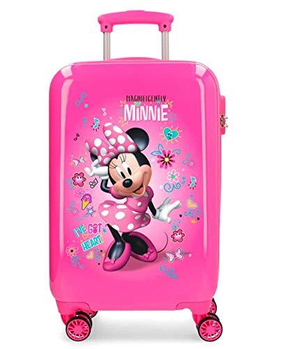 Minnie Stickers Maleta de Mano Rosa
