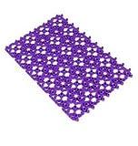 YOKIRIN® Plastic Kann spleißenden Antirutsch Badematte für Wanne und Duschkabine 30X20 cm- Lila