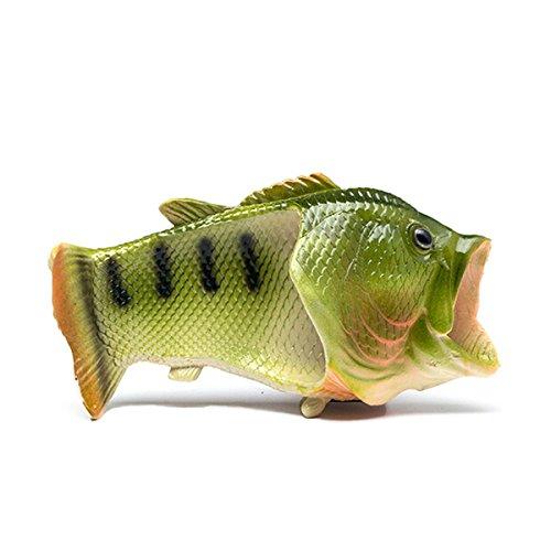 Butterme Unisex Anti Skid Fisch Tier Hausschuhe, Kinder/Erwachsene, 44/45 - 8