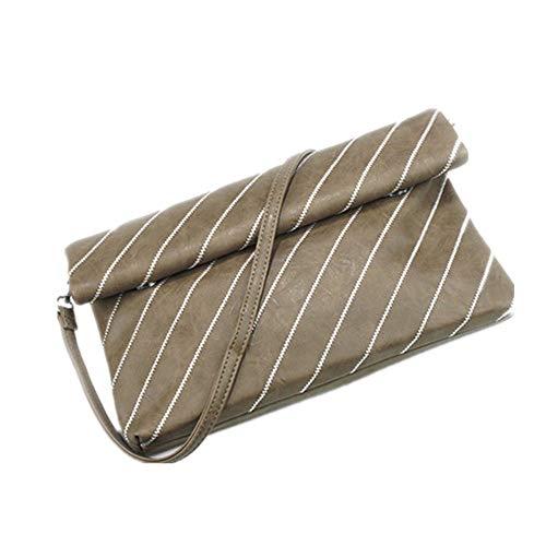 Zsaixmaog Frauen Umhängetasche Umhängetasche Brieftasche Clutch Bag Rechteckige Tasche Lady Umhängetasche Brieftasche Mit Armband Damen Umhängetasche (Farbe : Braun, Größe : 30.0 cm*19.0 cm*3.0 cm)