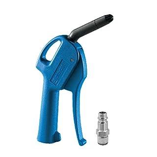 AUPROTEC Druckluft Ausblaspistole, mit geräuscharmer Düse, Sicherheits Druckluftpistole mit Stecker