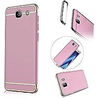 Galaxy A5 2017 Hülle, MOMDAD Dünnen Baby Skin Schutzhülle für Samsung Galaxy A5 2017 A520 Handyhülle Full Body PC Hart Protektiv Case Cover Handy Schutz Tasche Schale Bumper - Detachable Pink