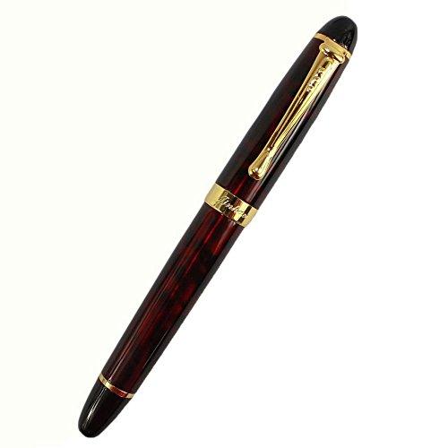 niceEshop(TM) Luxury Jinhao M Nib 18KGP Füllfederhalter (Elegant Rot GT)
