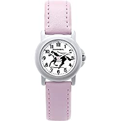 Cannibal Girl's Quartz Watch with White Dial Analogue Display and Pink Plastic or Pu Strap CK193-14