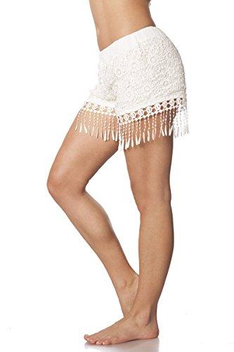 Angies Glamour Fashion - Short - Femme Blanc - blanc
