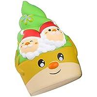 Wawer 1 Stück Squishies Weihnachts-EIS Sahne Weiches Langsam steigender duftender Squeeze Stress Spielzeug entlasten Geschenke