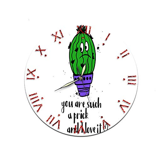 Zuonuoo Süße Feigenkaktus Dekoration Acryl Uhr Stumm Nordic Wohnzimmer Weiblich Männlich Uhr CTT-121 (Rolex-uhren Männliche)