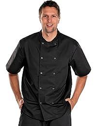 Chefs chaqueta manga corta, M, negro, 1