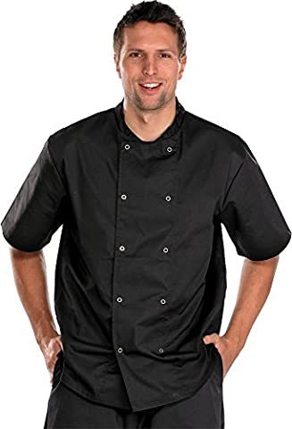 CHEFS JACKET SHORT SLEEVE BLACK