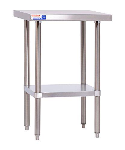 Flat-top-arbeitstisch (Edelstahl Tisch-610x 610x 914mm (61x 61x 91,4cm) Flat Top-kein Aufkantungen.)