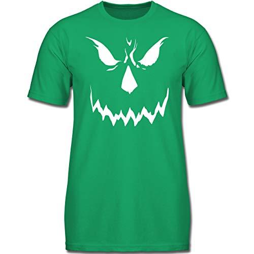 Anlässe Kinder - Scary Smile Halloween Kostüm - 116 (5-6 Jahre) - Grün - F130K - Jungen Kinder T-Shirt