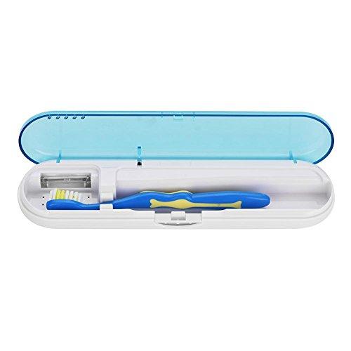 Antibakterielle UV-Licht tragbare Zahnbürste Sterilisator Sanitizer Reiniger Desinfektion(Blau)