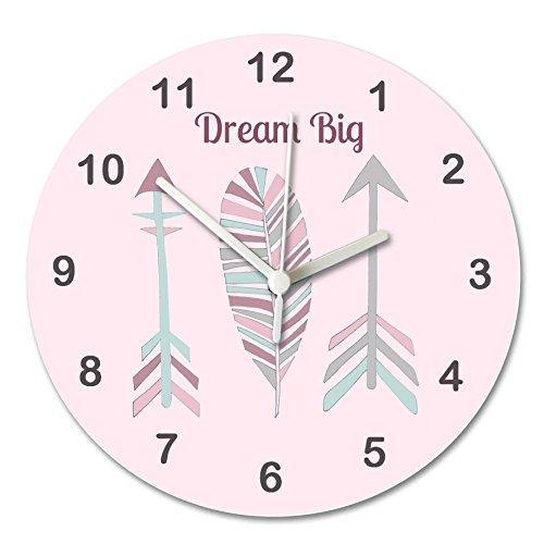 hr, Kinder Uhren, Silent Uhr, sagen, die Zeit Uhr, Pfeile Uhr, Dream Big Uhr, Uhren UK, Wanduhren, Schlafzimmer Uhren, Mädchen Raum Uhr. (Die Kinder Lernen Zu Sagen, Zeit, Uhr)
