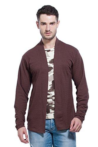 Alan Jones Cotton Blend Cardigan Attached Inner Camoflauge T-Shirt